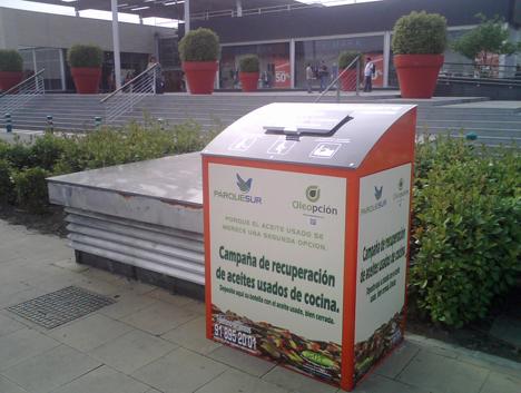 Reciclado de aceite usado en Parquesur