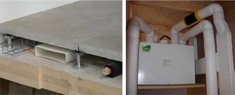 Sistema de Ventilación con recuperación de energía instalado en la vivienda SLM System