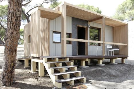 Vivienda prefabricada en madera construible - Casas de madera de pino ...