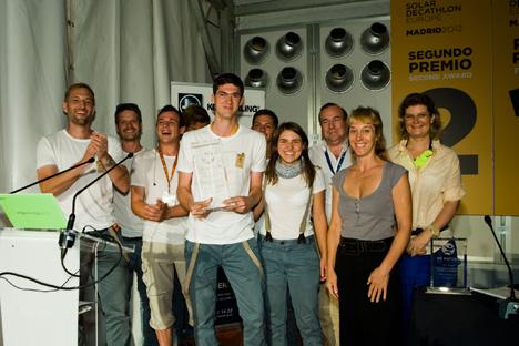 Team Ecolar recoge el premio de Industrialización y Viabilidad de Mercado de SDE2012