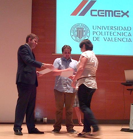 Entrega del premio de la Cátedra Blanca de arquitectura organizado por la Fundación CEMEX y la UPV