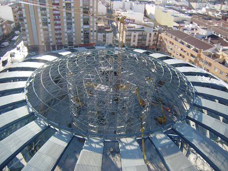 Un ejemplo de la inversión de Sercopsa en investigación es la cubierta de la plaza de Toros de Villena