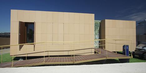 Patio 2.12, instalado en la Casa de Campo de Madrid, durante la competición Solar Decathlon 2012