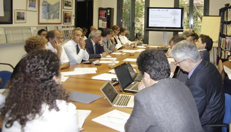 Primera Reunión del Comité Organizador del Congreso Mundial de Edificación Sostenible, WSB14 en Barcelona