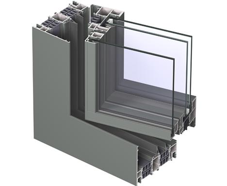 CS 77 Verbundfenster un sistema de ventanas de Reynaers Alumnium