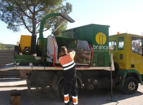 Trituradora del proyecto BRANCA