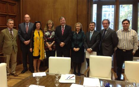 Reunión de la Mesa de la Edificación de Castilla y León el pasado 26 de noviembre
