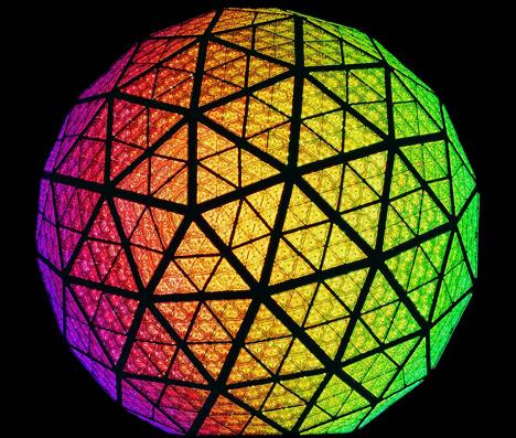 32.256 LEDs de Philips han iluminado la icónica bola de Times Square para dar la bienvenida al 2013