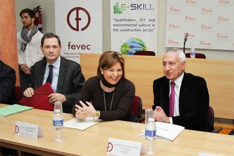 Isabel Bonig se ha reunido esta con la Junta Directiva de la Confederación de Empresarios de la Construcción de la Comunidad Valenciana, CECCOVA