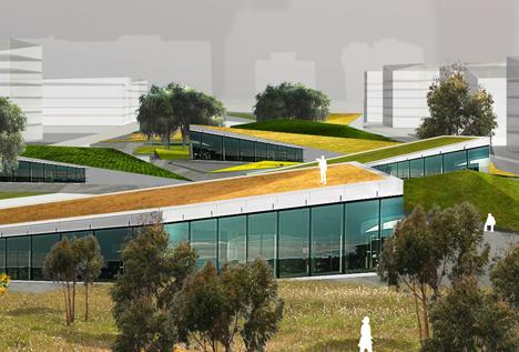 Ejemplo de edificios que integrarán la Ciudad del Conocimiento de Dushan.
