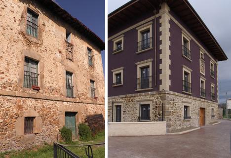 Casa Palacio San Cristóbal antes y después de la rehabilitación
