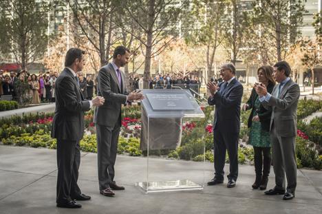 Acto de inaguración del Campus Repsol presidido por el Principe de Asturias y otras autoridades