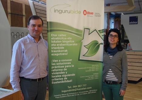 Javier Sánchez, fundador de Ingurubide, y Eider Uriarte, Directora del centro
