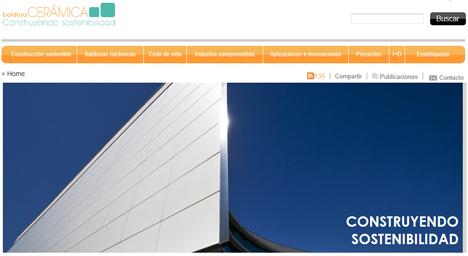 """Nueva web de Tile of Spain, """"Baldosa Cerámica Construyendo Sostenibilidad"""""""