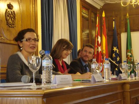 Ponentes durante la jornada. (El Director Ejecutivo de FSC España, Gonzalo Anguita, el tercero empezando por la izquierda)