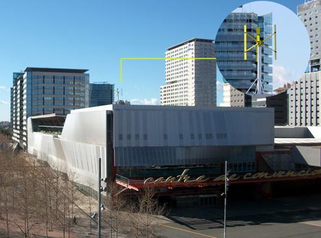 El Centro de Convenciones de Barcelona instala un aerogenerador vertical en su cubierta