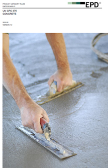 Las Reglas de Categoría de producto para el hormigón no reforzado desarrollado por el WBCSD Iniciativa de Sostenibilidad del Cemento (CSI) han sido publicadas por el Sistema Internacional EPD®.