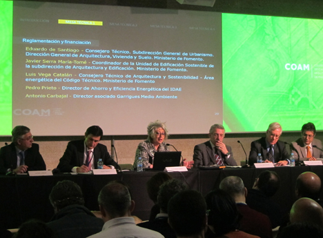 I Encuentro sobre Rehabilitación, Arquitectura y Energía, Mesa técnica 1: Reglamentación y Financiación
