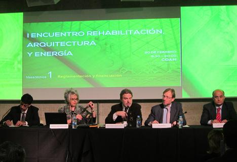 I Encuentro sobre Rehabilitación, Arquitectura y Energía, en el centro Decano del COAM, José Antonio Granero Ramírez
