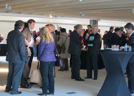 Cocktel en el  Encuentro sobre Rehabilitación, Arquitectura y Energía organizado por el COAM