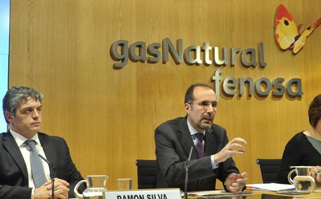 De izquierda a derecha, el responsable de Innovación y Desarrollo de Servicios Energéticos, Ramon Silva, y el director de Mercado Terciario y Soluciones Energéticas de Gas Natural Fenosa, Josep Codorniu, durante la presentación del Índice en Barcelon