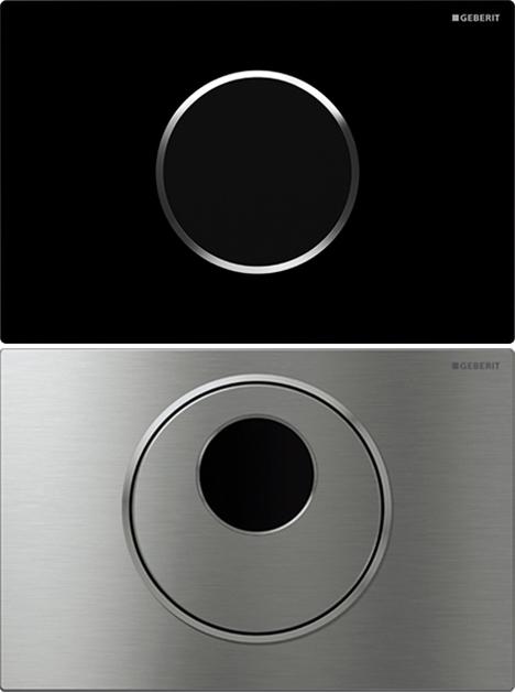 Dos modelos del nuevo pulsador Geberit Sigma10