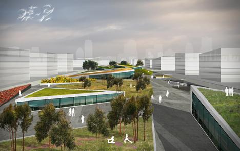Detalle del Proyecto de Ciudad Universitaria seleccionado para la ampliación de la ciudad china de Dushan