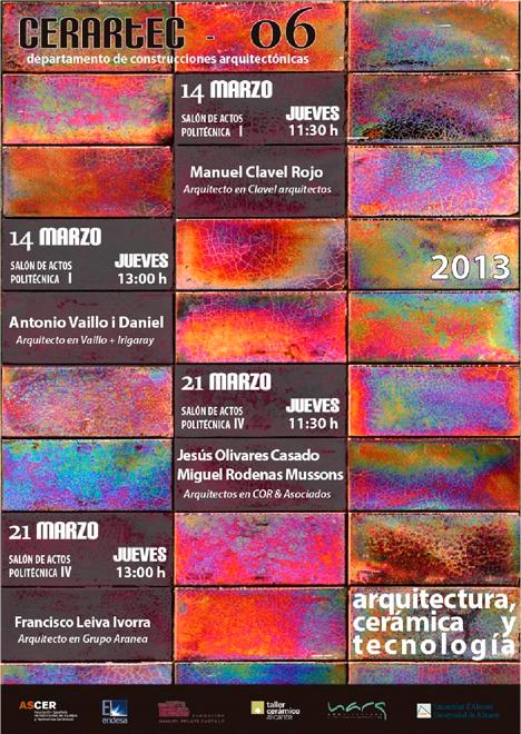 Ciclo de conferencias Cerartec en Alicante sobre cerámica, arquitectura y tecnología