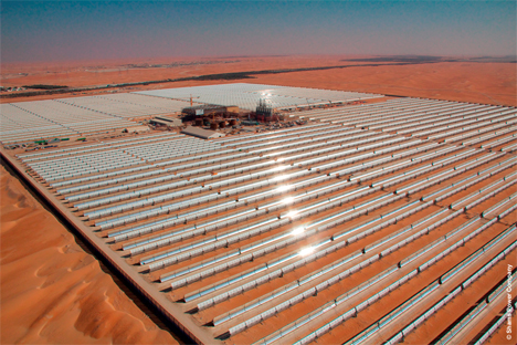 Shams 1, la mayor planta solar cilindroparabólica