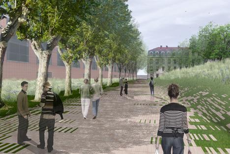 Flexbrick en el proyecto del Jardín Niel de Toulouse