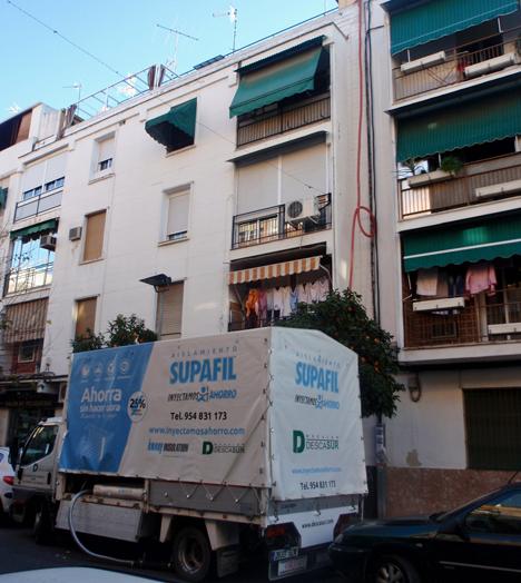 Aislamineto de una fachada en Córdoba con Supafil