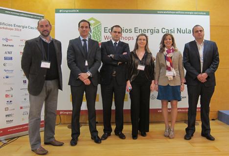 Algunos de los patrocinadores del I Workshop de Edificios de Energía Casi Nula.