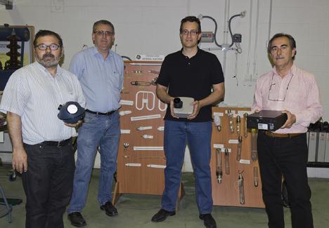 Los investigadores de la UGR que participan en la patente. De izquierda a derecha, Evaristo Molero Mesa, Fernando Aznar Dols, Ovidio Rabaza Castillo y Antonio Espín Estrella.