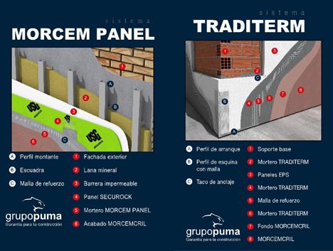 Sistema TRADITERM® y Sistema MORCEM® PANEL del Grupo Puma