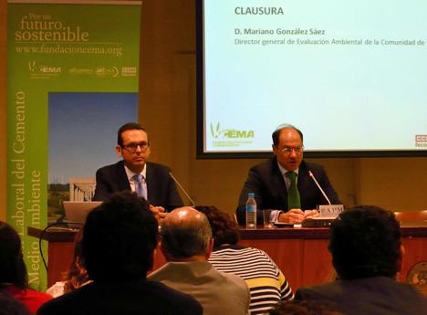 Dimas Vallina y Mariano González, de izq. a dcha.