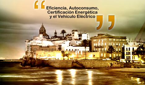 Cartel de la joranada Bioecónomic, Eficiencia, autoconsumo, certificación energética y vehículo eléctrico.