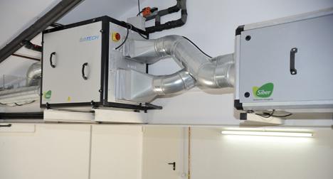 Grupo de ventilación y iUnidad de Purificación del Aire de Siber, instaladas en la vivienda