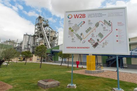 La planta de demostración, ubicada en Babilafuente (Salamanca), utiliza la tecnología W2B desarrollada por Abengoa