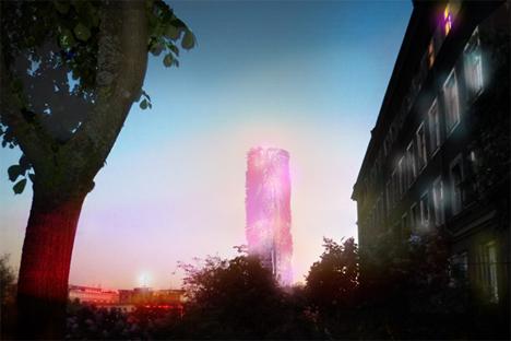 Iluminación nocturna de la Torre Söder