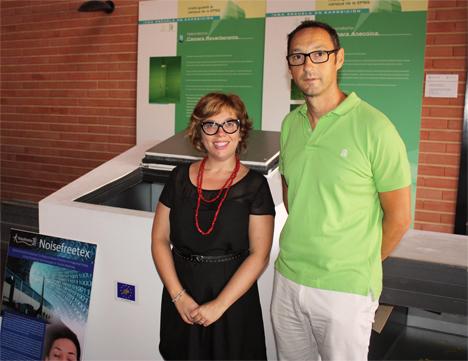 Romina del Reyy Jesús Alba, investiadores de la UPV