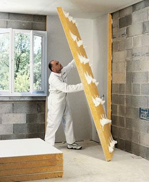 Calibel yeso laminado con material aislante para - Aislamiento acustico paredes interiores ...