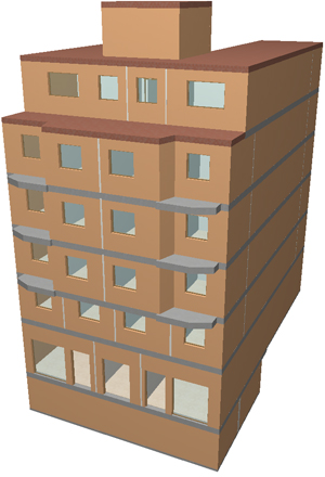Imagen virtual edificio principal