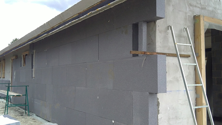 Fotografía de aislamiento por exterior de fachada. Jungitu (Álava)