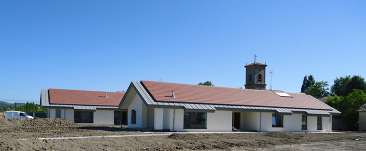 Fotografía de las viviendas terminadas Jungitu (Álava) Certificadas Passivehaus