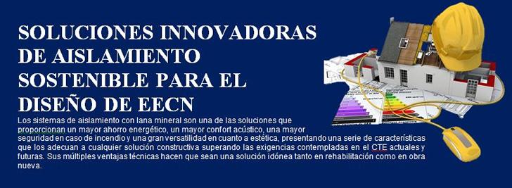 Cartel soluciones innovadoras de Aislamiento sostenible para el Diseño de EECN