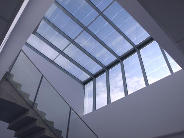 Lucernario Fotovoltaico transparente, edificio Lucia
