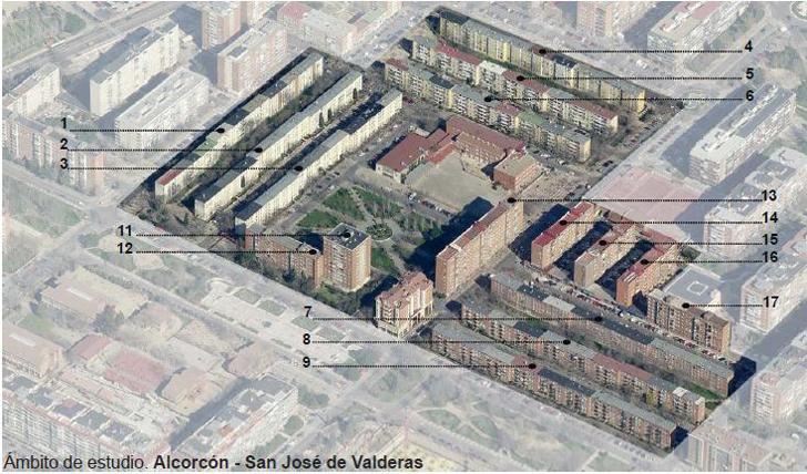 Ámbito de estudio. Alcorcón - San José de Valderas.