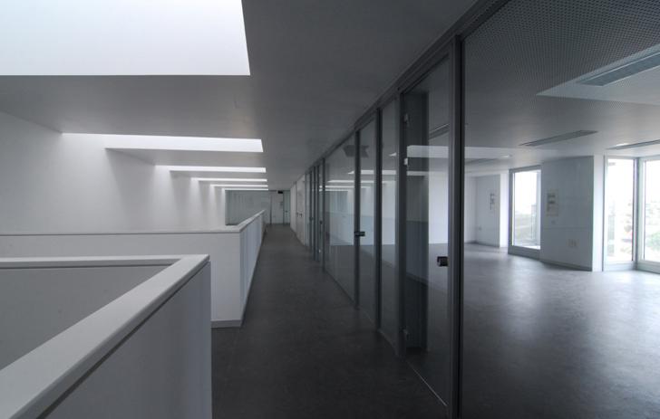 Interior de los espacios de trabajo y zonas comunes.