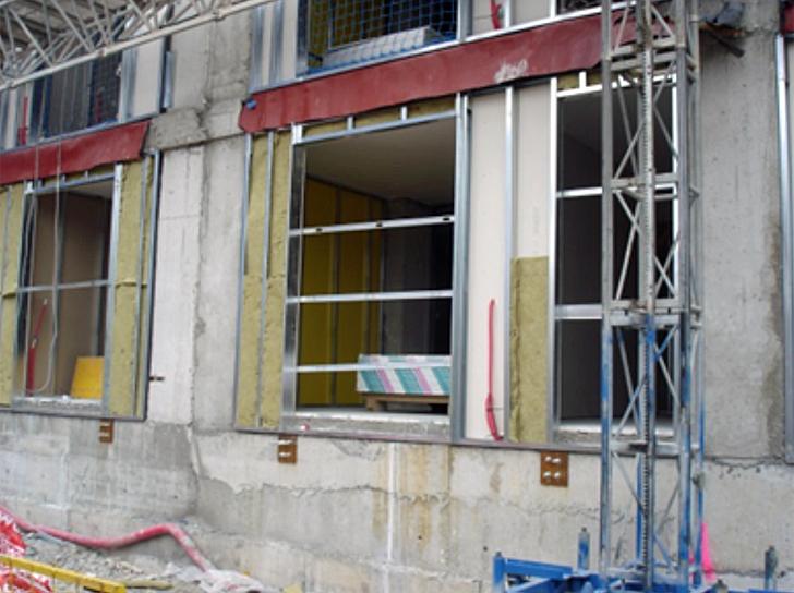 Fase de ejecución de la fachada ventilada