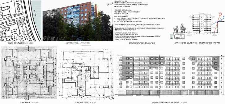 Ficha de caracterización geométrica del edificio situado en la Avenida del Manzanares, 64
